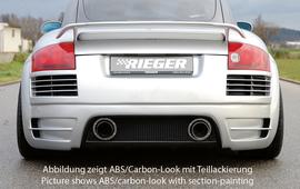 Audi TT 8N 98-06 Задний бампер Carbon Look