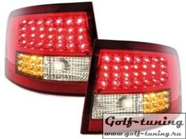 Audi A6 C5 97-04 Универсал Фонари светодиодные, красно-тонированные