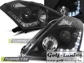 Nissan 350Z 03-05 Фары Devil eyes, Dayline под ксенон черные