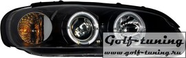 Opel Omega B 94-99 Фары с линзами и ангельскими глазками черные