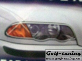 BMW E46 01-04 Накладки на фары хром