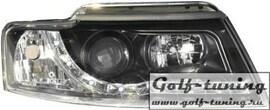 Audi A4 B6 02-06 Cabrio Фары Devil eyes, Dayline черные