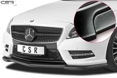 Mercedes Benz CLS C218 / X218 AMG-Line 11-14 Накладка на передний бампер матовая