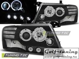 Mitsubishi Pajero V60 00-06 Фары Angel eyes черные