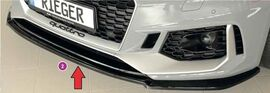 Audi RS5 (B9/F5) 17-20 Coupe/sportback Сплиттер для переднего бампера глянцевый