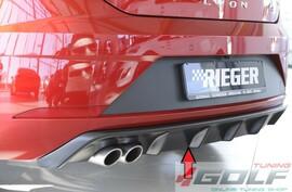 Seat Leon FR (5F) 17- Накладка на задний бампер/диффузор глянцевая