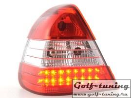 Mercedes W202 96-00 Фонари светодиодные, красно-белые