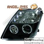 Citroen C2 03-10 Фары с линзами и ангельскими глазками черные