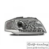 Audi A3 8P 03-08 Фары Devil eyes, Dayline хром