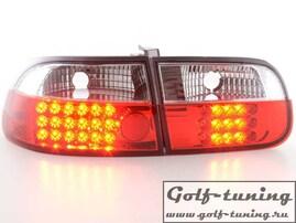 Honda Civic 92- 3D Фонари светодиодные, красно-белые