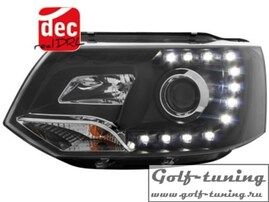 VW T5 GP 09-15 Фары Devil eyes, Dayline черные