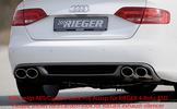 Audi A4 B8 07-11 Седан/Универсал Диффузор для заднего бампера черный