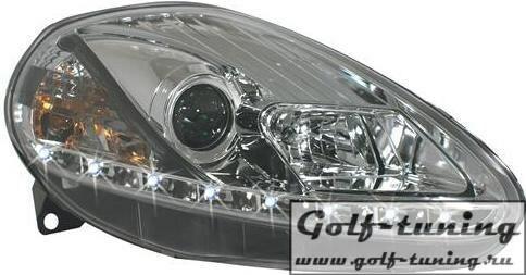 Fiat Punto 05- Фары Devil eyes, Dayline хром