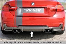 BMW F32/F33/F36 12-15/15- Диффузор заднего бампера черный