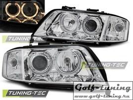 Audi A6 01-04 Фары Angel Eyes хром