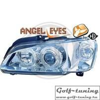 Peugeot 106 96- Фары с линзами и ангельскими глазками хром