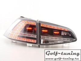 VW Golf 7 12-17 Фонари светодиодные, в стиле GTI, черные