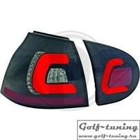 VW Golf 5 Фонари светодиодные, черно-тонированные
