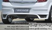 Opel Astra H 5D Накладка на задний бампер Carbon Look