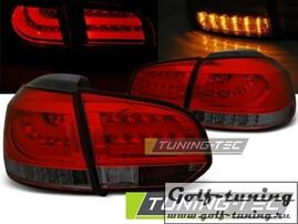 VW Golf 6 Фонари светодиодные, красно- тонированные