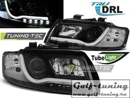 Audi A4 00-04 Фары TUBE LIGHTS черные