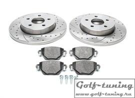 Ford Mondeo III/Jaguar X-Type Комплект спортивных тормозных дисков и колодок