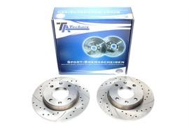 Citroen/Peugeot Комплект спортивных тормозных дисков
