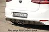 VW Golf 7 R-Line 12-17 Диффузор для заднего бампера