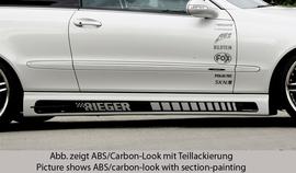 Mercedes W209 Купе/кабрио Накладки на пороги Carbon Look