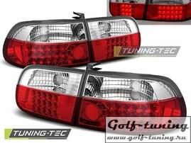 Honda Civic 91-95 3D Фонари светодиодные, красно-белые