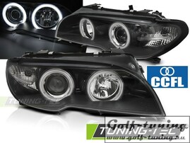 BMW E46 03-06 Coupe/Cabrio Фары CCFL Angel Eyes черные под ксенон
