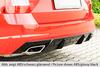 Skoda Octavia A7 RS 13-19 Диффузор для заднего бампера carbon look