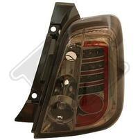 Fiat 500 07- Фонари светодиодные, тонированные