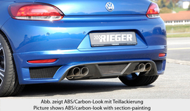 VW Scirocco 3 08-14 Накладка на задний бампер