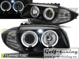 BMW E81/E82/E87/E88 04-11 Фары Angel Eyes черные
