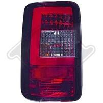 VW Caddy 03-15 Фонари Lightbar design красно-тонированные
