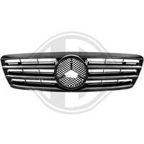 Mercedes W203 00-07 Решетка радиатора черная, глянцевая