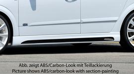 Opel Astra H 5D Накладки на пороги Carbon Look