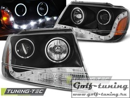 Jeep Grand Cherokee 99-05 Фары Devil eyes, Dayline черные
