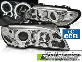 BMW E46 03-06 Coupe/Cabrio Фары CCFL Angel Eyes хром под ксенон