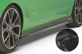 Hyundai I30 17- Накладки на пороги Carbon look