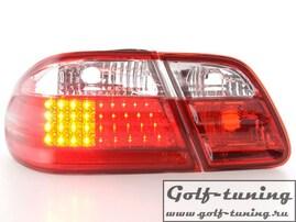 Mercedes W210 95-98 Фонари светодиодные, красно-белые