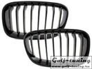 BMW F20 12- Решетки радиатора (ноздри) черные, глянцевые
