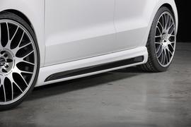 VW Polo 6R/6C 09-17 Накладки на пороги Carbon Look