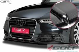 Audi A6 C7 S-Line 11-14 Накладка на передний бампер Cupspoilerlippe carbon look