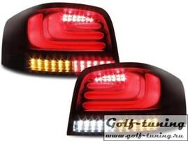 Audi A3 8P 03-08 Фонари светодиодные, красно-тонированные Lightbar