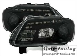 VW Touran 1T 03-06 Фары Devil eyes, Dayline черные