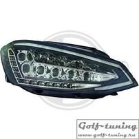 VW Golf 7 12-17 Фары светодиодные, черные