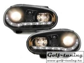 VW Golf 4 Фары Devil eyes, Dayline черные