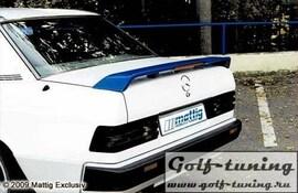 Mercedes W201 82-92 Спойлер на крышку багажника с стоп сигналом
